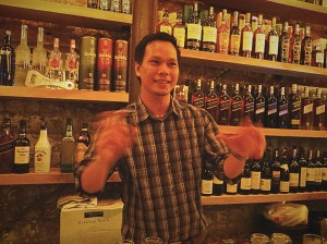 Ramsey (though I'm sure it's not spelled that way) - our favorite bartender at Drunk Monkey