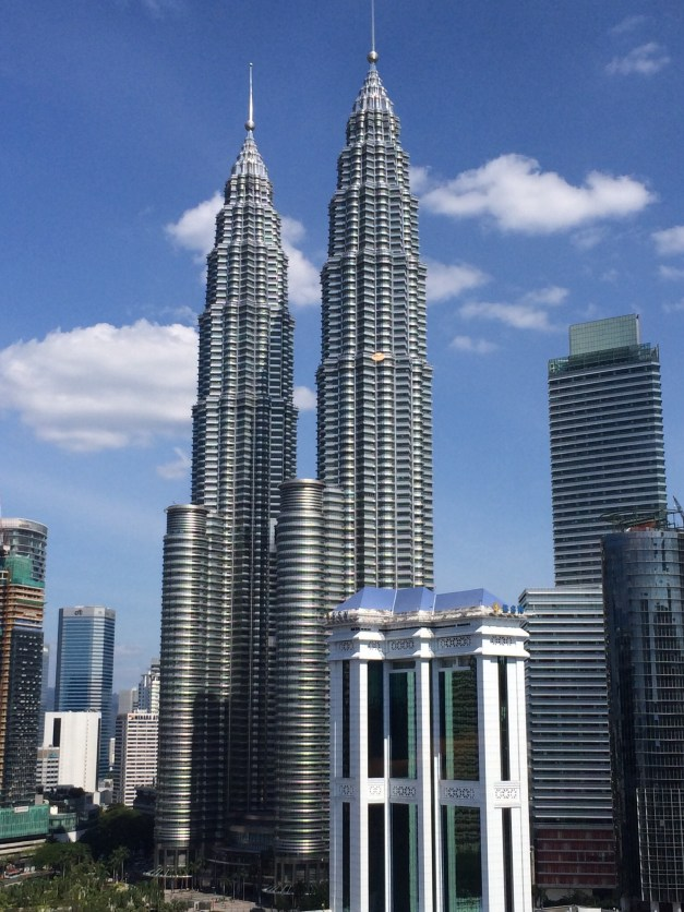 The architectural highlight of KL is the Petronas Towers. Designed by César Pelli to reflect Islamic art, they're stunning. This was the view from the lounge at the hotel.