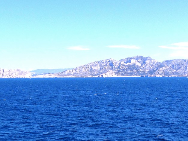 The view shortly after pulling out of Marseille. I love sailing in the Mediterranean!