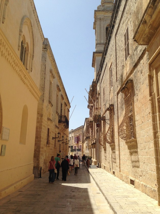 Street scene in Mdina (which means, appropriately, walled city)