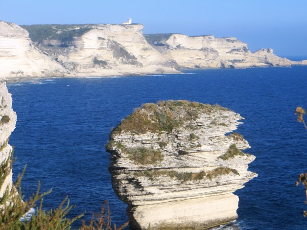On our first afternoon in Bonifacio we hiked maybe three miles out along these cliffs, out to the lighthouse and beyond