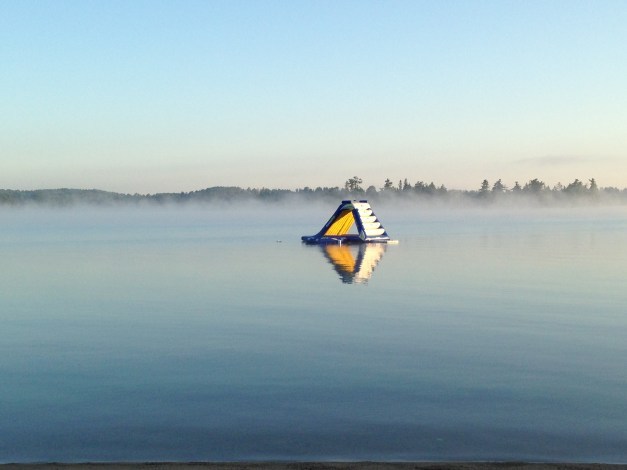 Morning on Lake Vermillion. Later in the day I would exhaust myself playing with  my nephews on that slide.