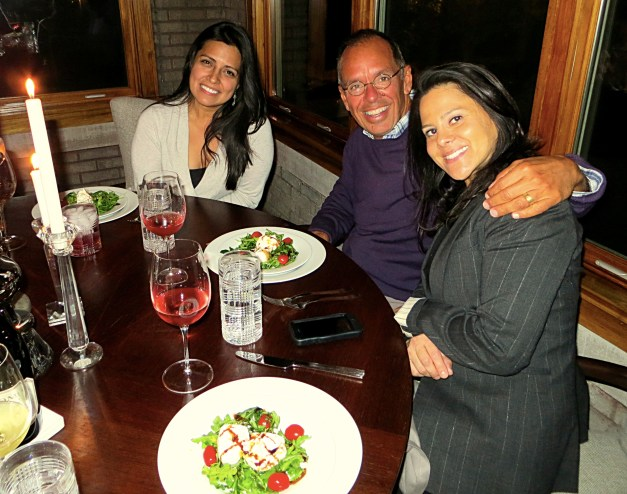 Nina, me, and Sonia at the beautiful and elegant first dinner party