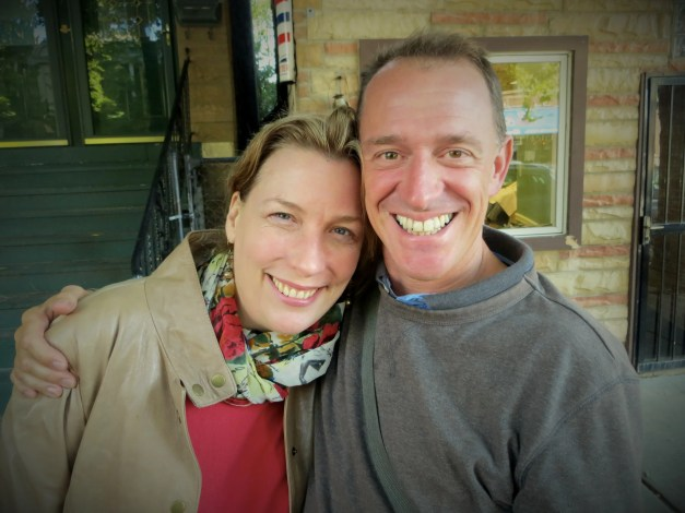 Mark and the always-beautiful Lisa Tacke-Pucylowski. You'd never know from the smile on her face here what she has to put up with from the Mayor!