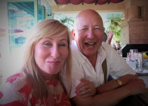 Intrepid travelers Ron and Ania at lunch in Las Vegas