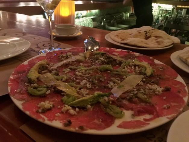 More good food, though this has a lot more to do with Italian than Mayan culture. Beef carpaccio with avocado ... why didn't we think of that?