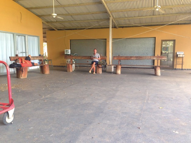 We've found that the most efficient way to hop around the country is on these tiny planes that stop in small towns. This is the airport lounge in Tamarindo. Looks cozy, huh?