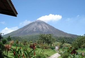 This is the Arenal Volcano. Unfortunately it's just a picture I got off the web. It was completely clouded in the four days we were in the area so we never really saw it.