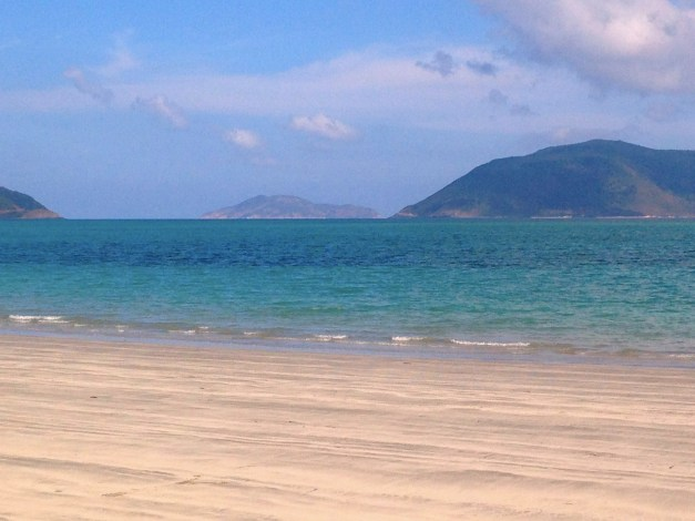 A small piece of the mile-long beach at our resort on Con Dao
