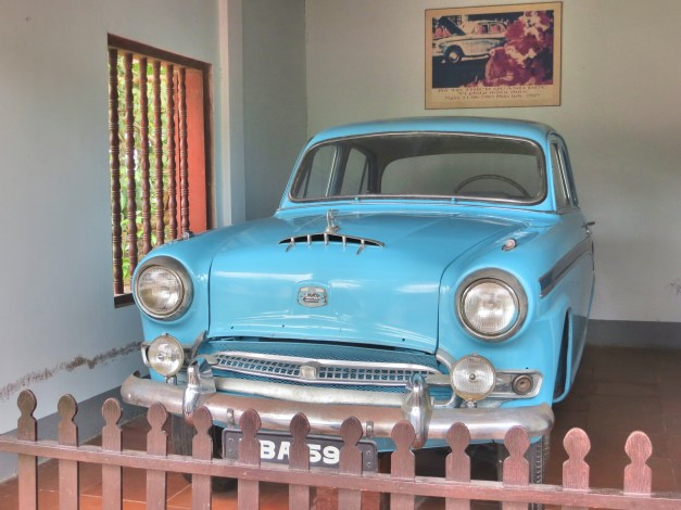 A remarkable piece of history parked inside the Citadel. This is the car the Buddhist monk Thích Quảng Đức drove to his self-immolation.