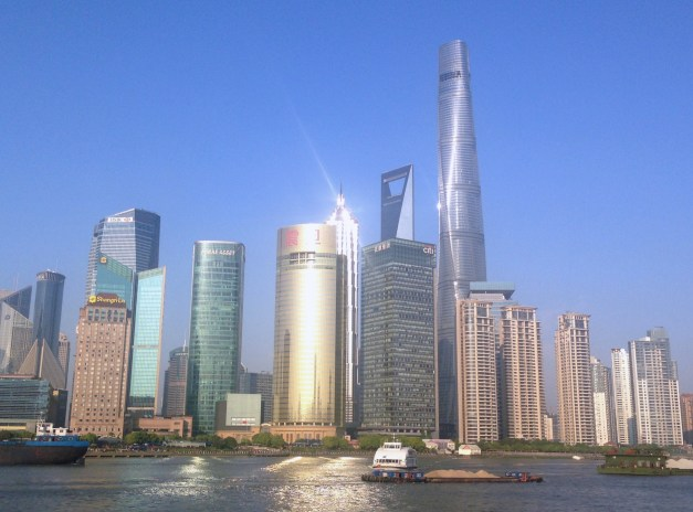 I'll never tire of Pudong's city scape across from the rest of Shanghai