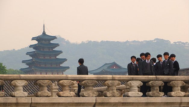 A view of Changdeokgung, a 16th century palace that today is a UNESCO World Heritage Site
