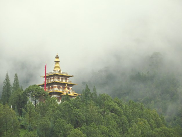 One of the beautiful, mystical temples we hiked to. This one was commissioned by the Queen Mother just a few years ago and has a commanding view over the Panakha Valley.
