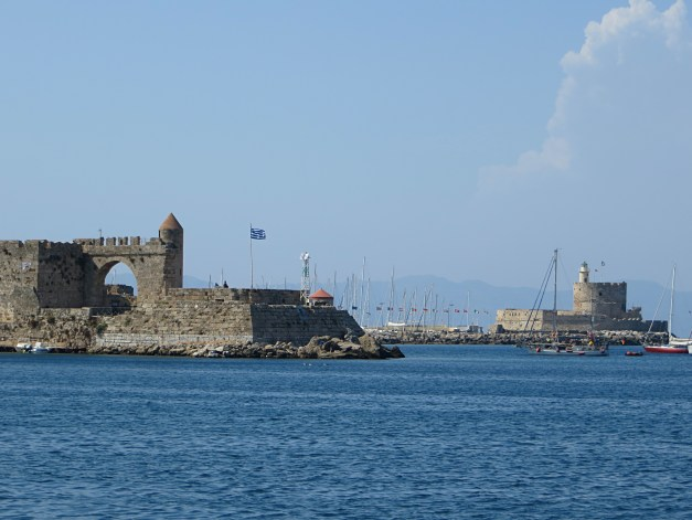 The harbor in Rhodes