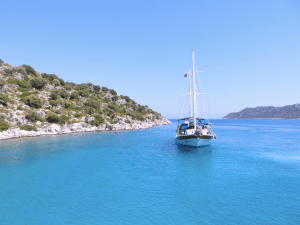 This is what it looks like sailing around the Turkish coast
