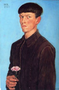 Otto Dix's self portrait, painted when he was just 21
