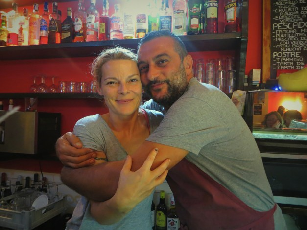 Michele & Giuseppe, the Italian couple who ran the great tapas bar we ate at three nights in a row