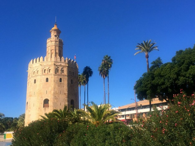 The Torre del Oro, or Tower of Gold, is another of Seville's prime symbols