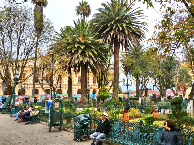 San Cristóbal's main square, just outside the Cathedral. A great place to sit in the afternoon with a good book...