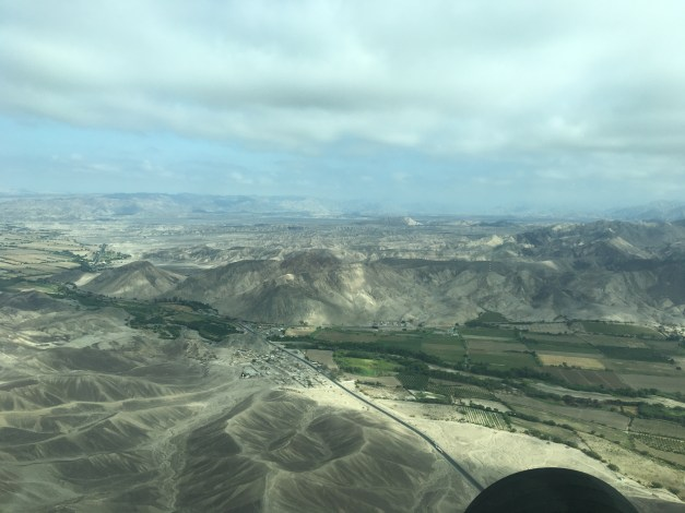 A view over the Nasca region from our little plane
