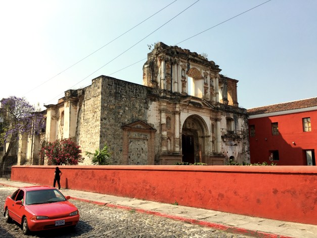 Remains of the Church of the Society of Jesus, mostly destroyed in one of those 18th century eruptions