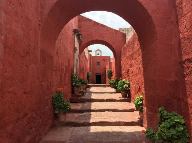 One of the beautiful little streets in the Santa Catalina Monastery