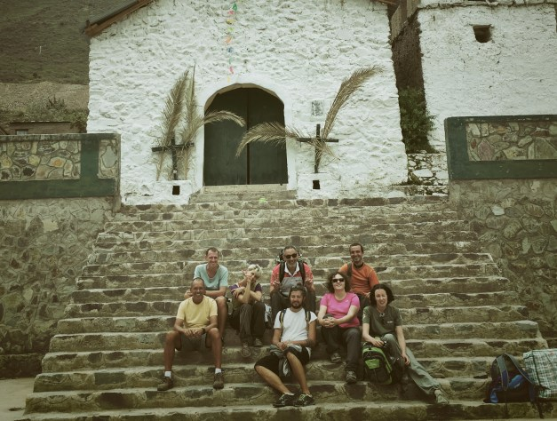 Our little group of hikers - some Italians, Spaniards, and Bulgarians all come to explore Peru