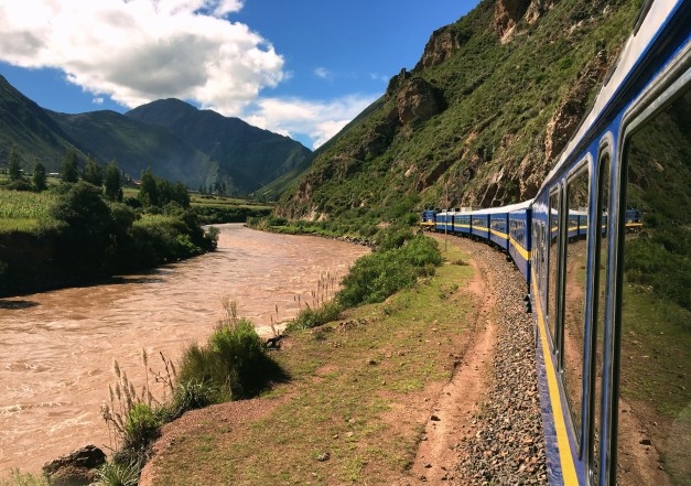 The Observation Car was open in back, allowing you to feel the open air and get great pictures as we followed the Huatanay River through the mountains