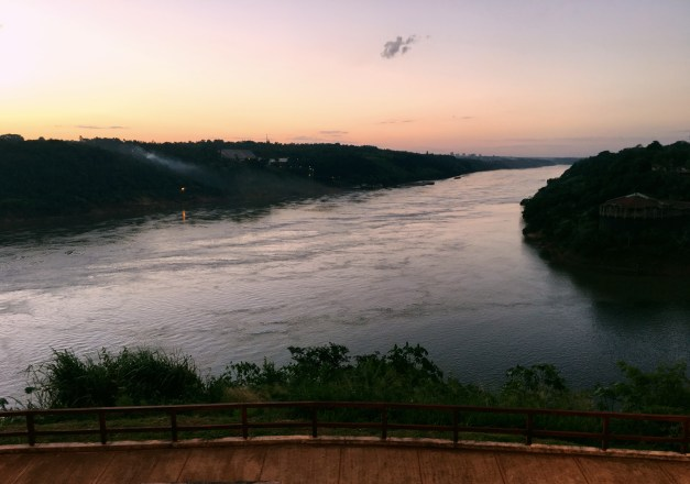 There was a great little park at the confluence of the Iguazu & Paraná Rivers. I'm in Argentina while that's Paraguay on the left and Brazil on the right.
