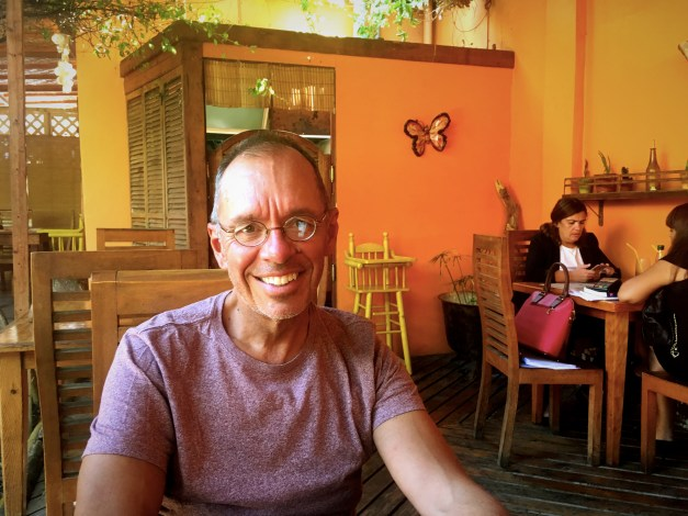 Yours truly, enjoying lunch in Iquique