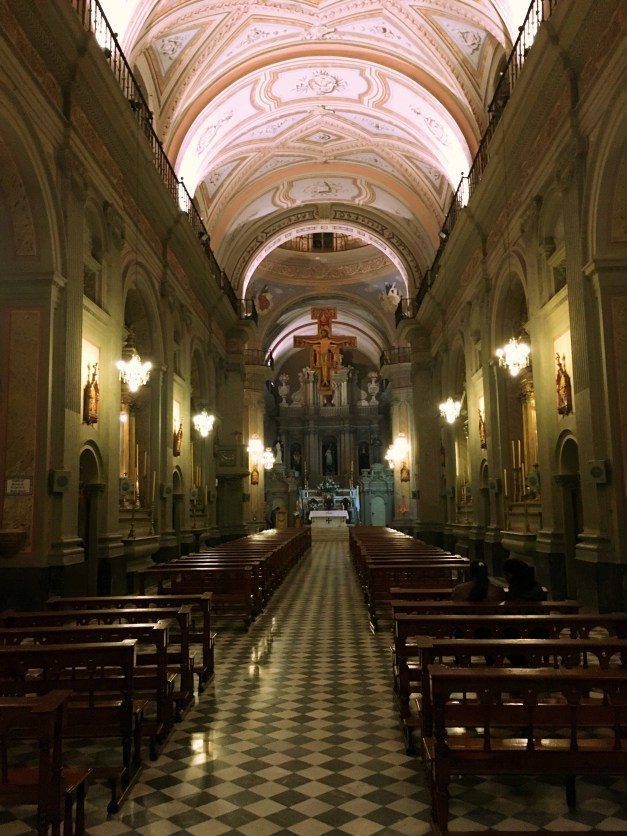 The interior of the Church of St. Francis