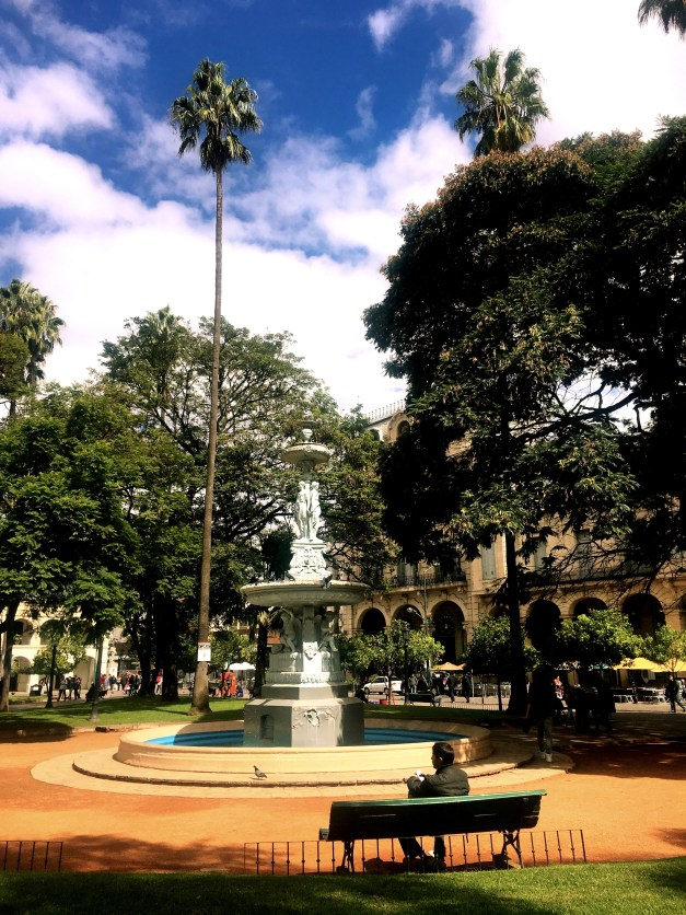 The beautiful central plaza of Salta