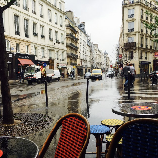 This is what Paris looks like in the afternoon when rain is forecast