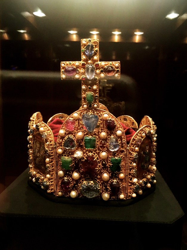 The Treasury had lots of crowns and gems and all that stuff