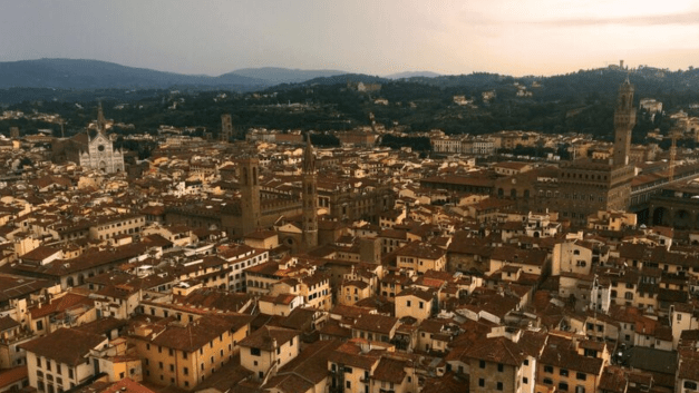 A view of Florence from atop the campanile