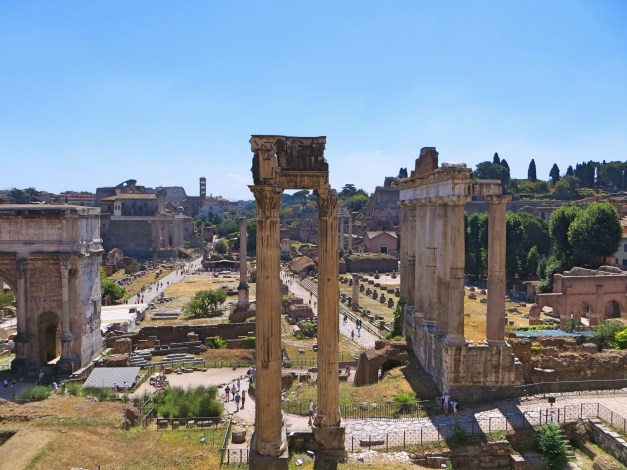 A view of the Roman Forum