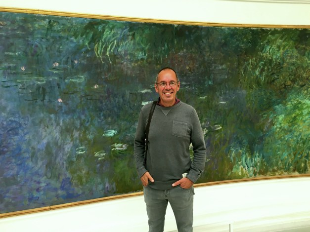 Here I am in front of some of Monet's water lilies