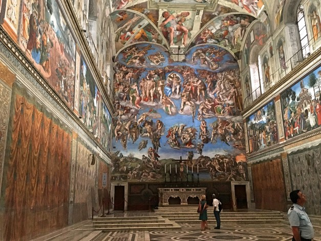 A bigger view of the Sistine Chapel. Mark & I went there late in the day and by the time we got here it wasn't quite as empty as this makes it look, but there weren't many people in it.