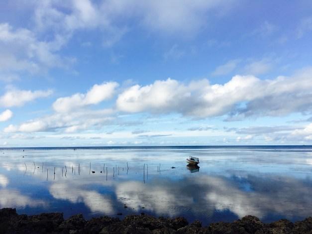 The glassy coast of Nuku'alofa