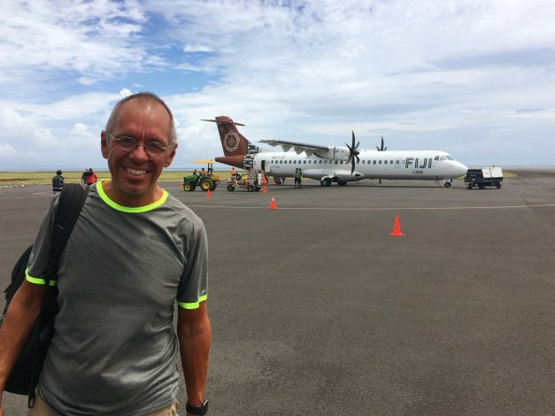 Getting ready to board the flight from Nadi to Labasa on Vanua Levu. I love little prop-jets; they make me feel like I'm really flying.