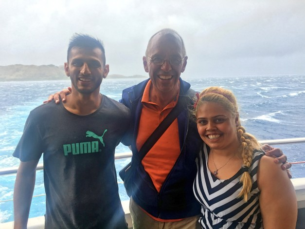 Here I am with Nazir and Sharon. She won the trip from her employer and he's just along for the ride. Not bad!