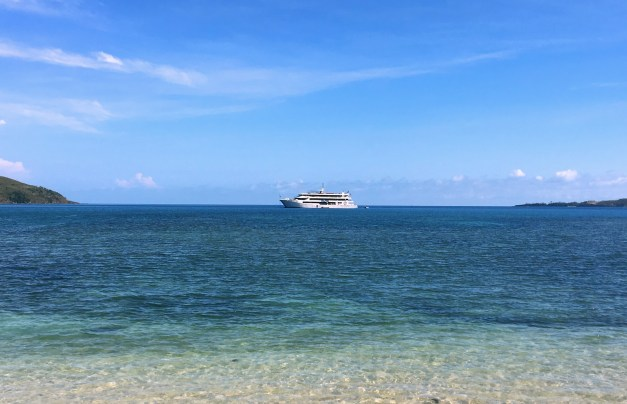 Our boat, the Fiji Princess, from one of our shore excursions