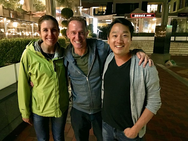 Shayna, Mark, and John Lee, great friends from Boston