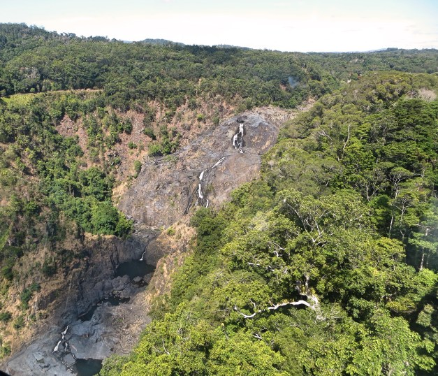Barron Falls, from a viewpoint during one of the little stops on the cableway