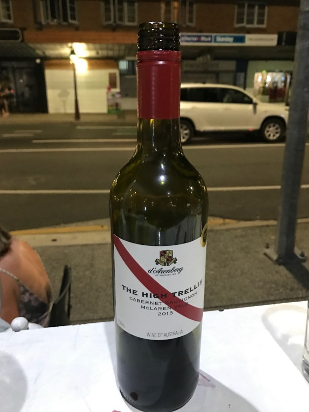 Not exactly great art here, but this BYO wine at our favorite Greek taverna represents a couple great, budget-friendly meals!