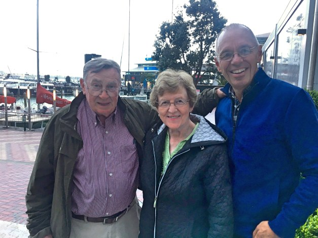 Me with Mark's parents on our last day in New Zealand