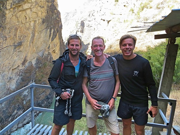 On Day Two we hiked down into the gorge. That's Andy & Frank with Mark, a couple of very fun guys