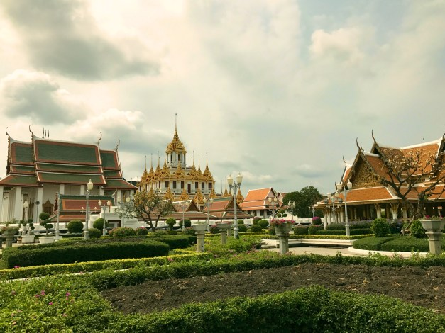 Part of the royal palace compound where I passed on one long walk to discover Bangkok