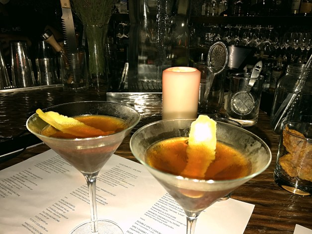 And perfect Perfect Manhattans at Eat Me, another unusually named restaurant