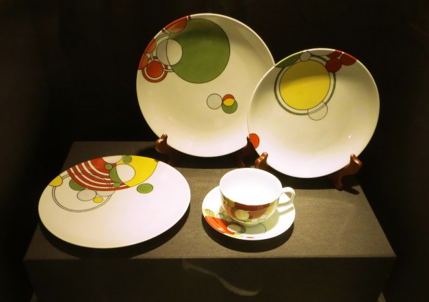 Back to the Noritake museum, these dishes were fun. The designer? Frank Lloyd Wright. Yup, him.